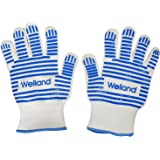 Grilling/ Cooking/ Baking Gloves Heat Resistant up to 932F Blue Silicone Oven Mitts Replacement