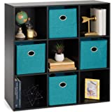 Best Choice Products 9-Cube Storage Shelf Organizer Bookshelf System, Display Cube Shelves Compartments, Customizable W/ 3 Re