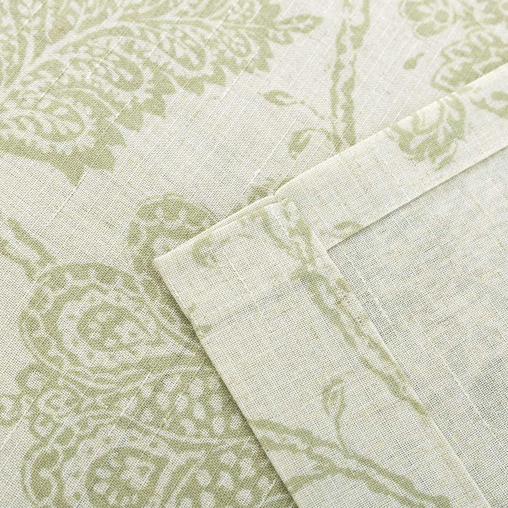 jinchan Floral Printed Tie-up Valance 1 pc 20 Sage