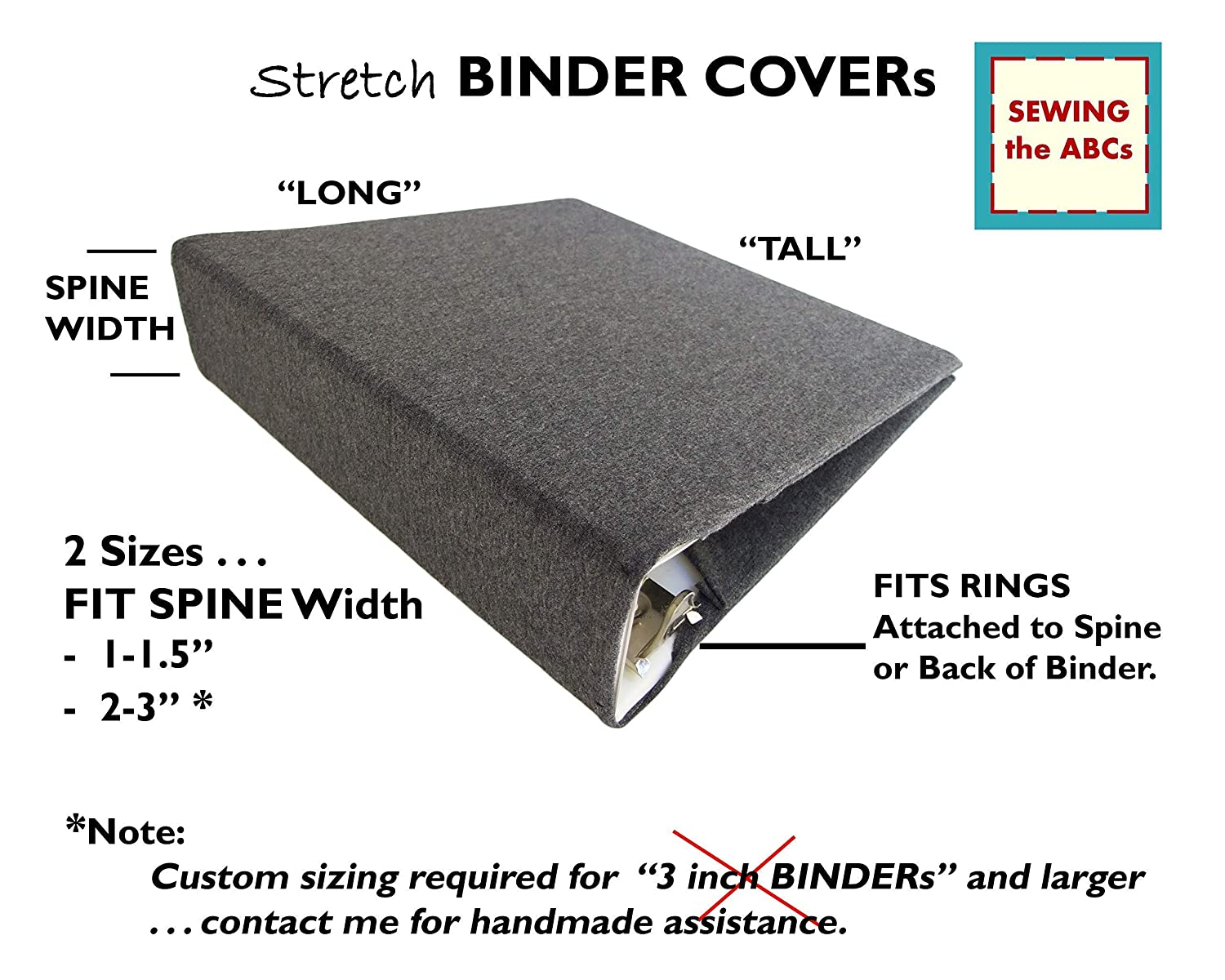 Fabric Binder Cover Stretch Binder Cover for Binder 3 Ring Decorative Binder Accessories NAVY FEATHERS Planner Binder Cover 8.5x11 Binder Cover Fabric