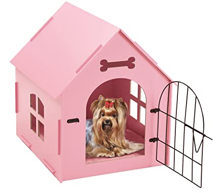 Delicieux Tristar Products Us Craft Wood Dog House With Door And Window, Indoor Kennel  For