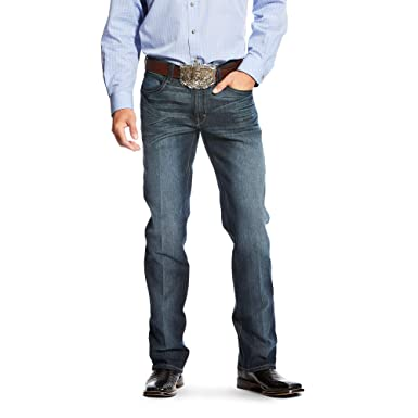 1ccf0dd7691241 ARIAT Men's Relentless Original Fit Shadow Stitch Performance Stretch  Stackable Straight Leg Jean Blackjack Size 34W X 38L at Amazon Men's  Clothing store: