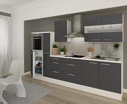 Cucine Bianco Grigio : Respekta rp hwg gruppo cucina cm colore bianco grigio