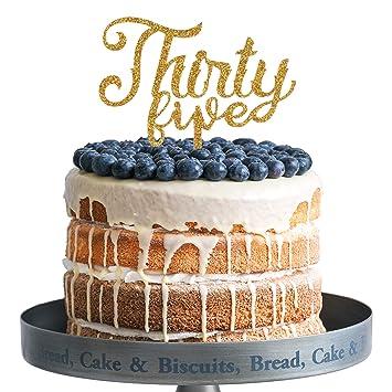 Amazon.com: Treinta y cinco adornos de acrílico para tartas ...