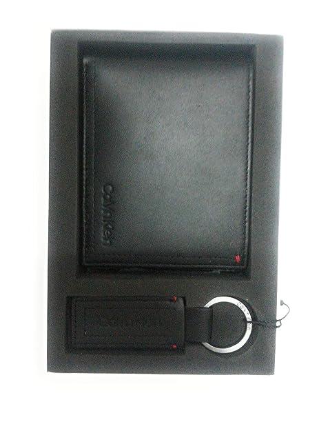 Calvin Klein - Smooth Essential Giftbox, Carteras Hombre, Negro (Black), 12.8