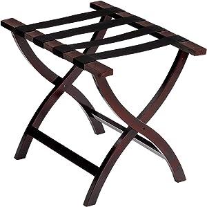 Wholesale Hotel Products Premium Contoured Leg Wooden Luggage Racks (Mahogany Finish)