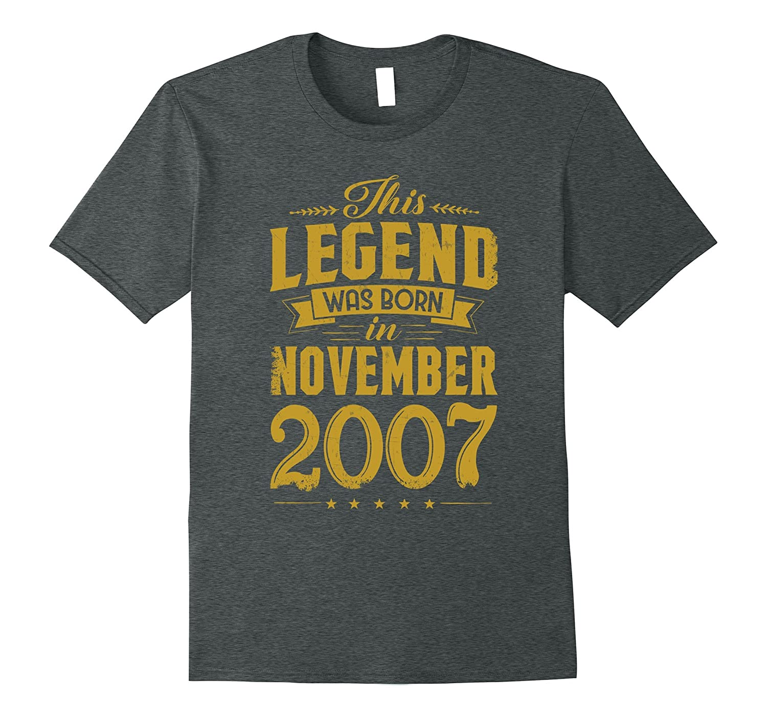 10th Birthday This Legend Was Born In November 2007 T-Shirt-ANZ
