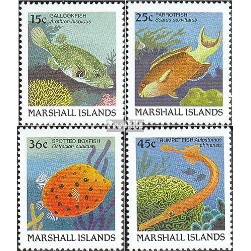 marshall-îles 172A-175A (complète.Edition.) 1988 Poisson (Timbres pour les collectionneurs)