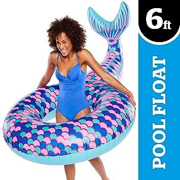Amazon.com: Bigmouth Inc flotador de piscina, gigante, cola ...