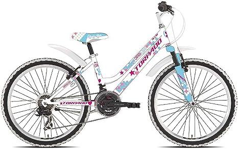 Torpado - Bicicleta MTB infantil Candy de 24 pulgadas, para niña ...