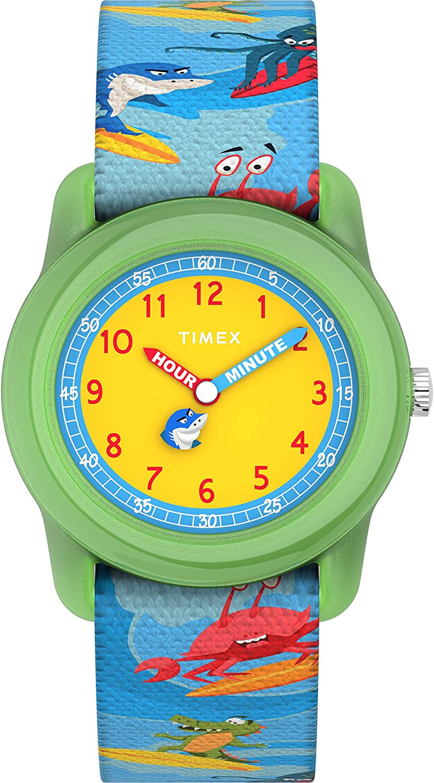 Amazon Com Timex Boys Tw7c83600 Time Machines Analog 28mm Blue