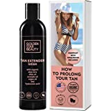 Tan Extender Daily Moisturizer - Best After Tanning Lotion w/Organic Oils and Hyaluronic Acid to Extend Your Tan from Sunless