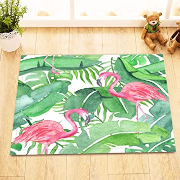 Amazon De Lb Aquarell Tropische Blatter Flamingo Rosa Dekor
