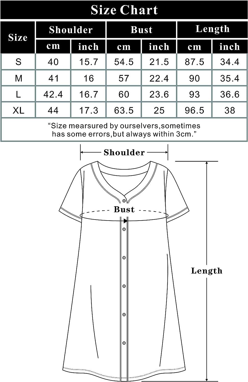 SHEKINI Pijama De Algod/ón Bata Kimono Cuello En V Manga Larga Mujer Pijamas De Casa para Mujer