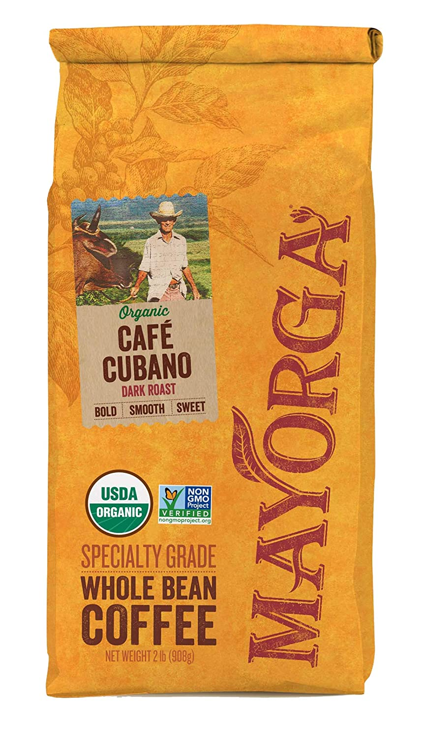 Mayorga Organics Cafe Cubano Dark Roast Whole Bean Coffee Review