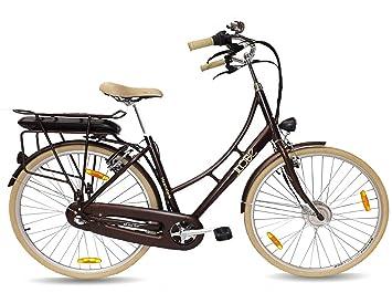 llobe E-Bike bicicleta holandesa haam Tede, 28 pulgadas, 3 marchas, frontal