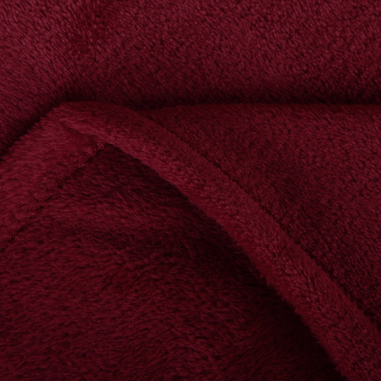 Burgundy Elliz Cashmere Plush Velvet Throw 50x70