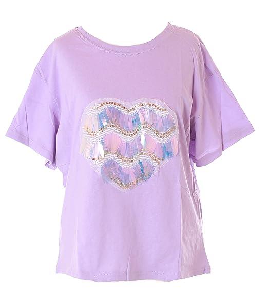 Kawaii-Story - Camiseta - Redondo - para Mujer Morado Morado Talla única: Amazon.es: Ropa y accesorios