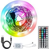 conpoir LED'ler Şerit Işık Seti USB RGB 44 Tuşlu Uzaktan Kumanda ile Esnek LED Halat Aydınlatma 20 Renk ve 6 Işık Modu…