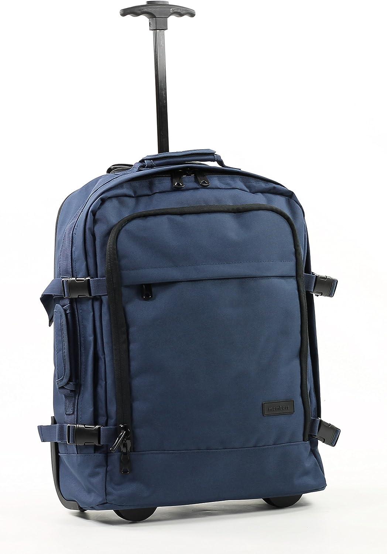 Members Essential - Mochila de viaje con ruedas, azul marino (Azul) - BP-0057-RP: Amazon.es: Equipaje