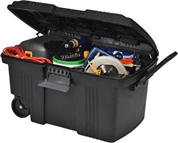 Pro móvil Contico Tuffbin - BIG 155 litros aletas para plástico con cerradura caja baúl para herramientas