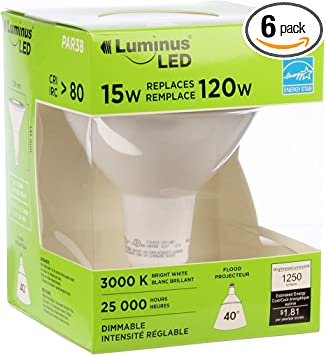 Luminus GU10 LED Lights3 PackDimmable25,000 Hours of Life400 Lumens