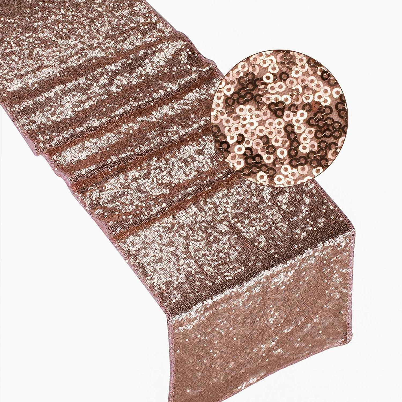 vlovelife品質キラキラ長方形デザインテーブルランナーゴールドスパンコールテーブルランナーSparking Glitterテーブルランナーウェディング誕生日パーティークリスマスベビーシャワーテーブルDecor – 12