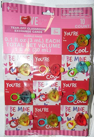 Amazon Com Valentine S Day Party Bubbles Rings Toy Favors With