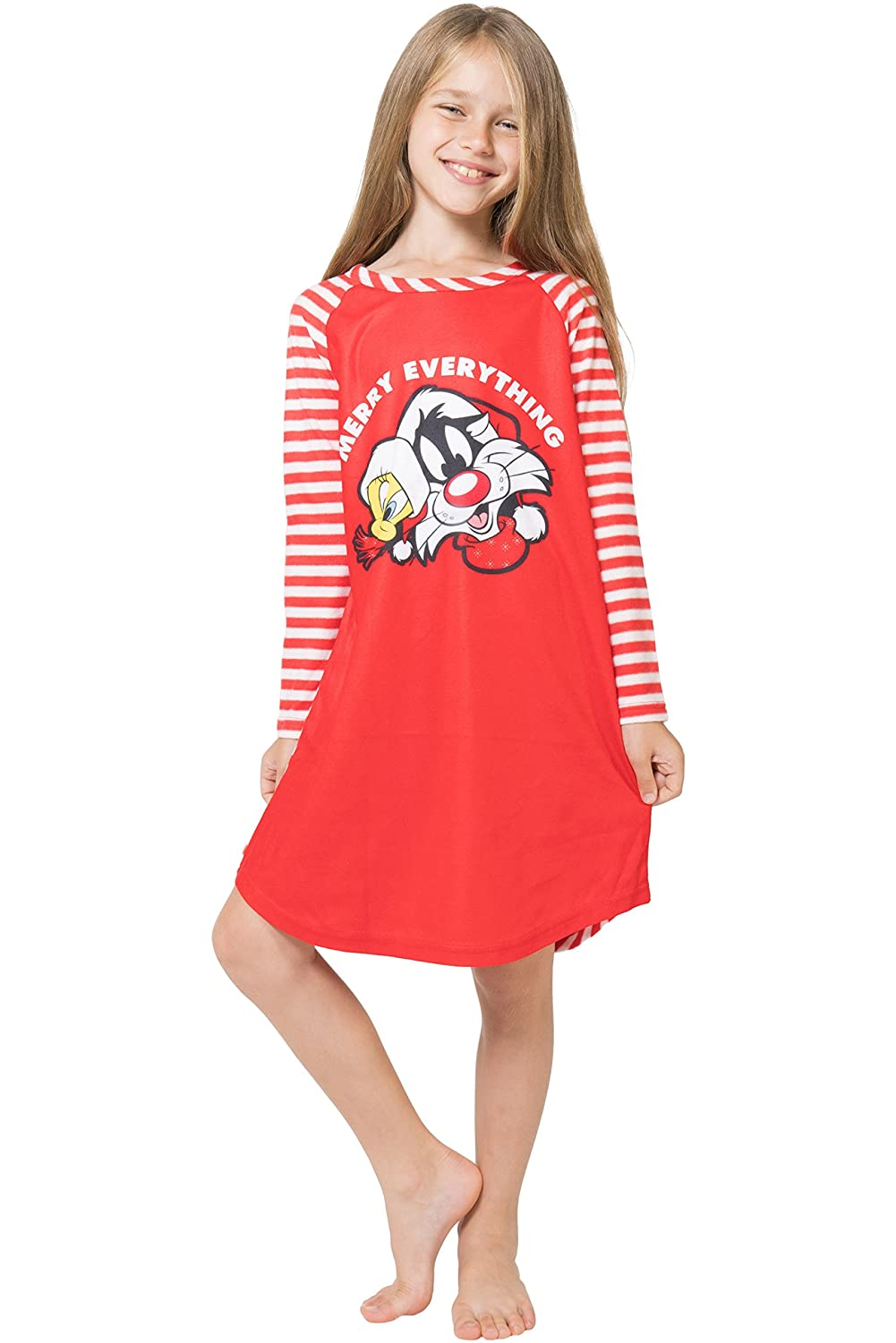 Looney Tunes Tweety and Sylvester Christmas Nightgown for girls LT0119RGL