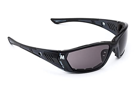 26689f86347 MORR Protective Gear MORR STARRLEY Z7 Sport Sunglasses with Wraparound Fog  ARMORR Anti-Fog Lenses and Foam Padded Frame for Mountain Bike