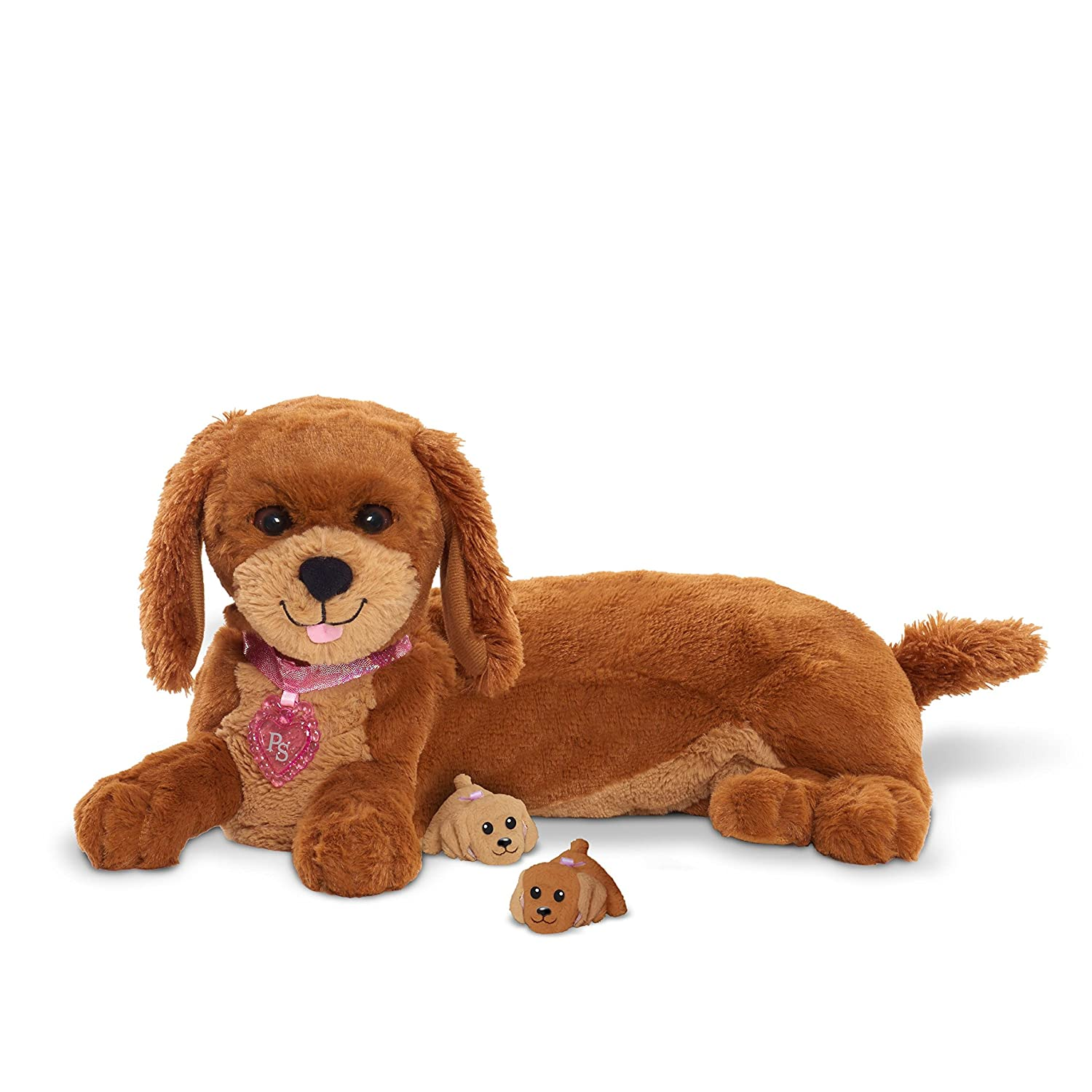 2477b2eeae3b Amazon.com: Puppy Surprise Magic Mommy Surprise Animated Plush Toy, Brown:  Toys & Games