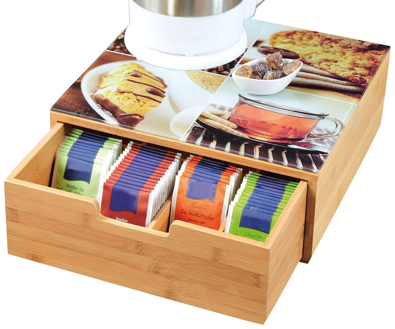 Kesper cassetto per capsule di caffè , 30 x 31 x 10 cm, marrone 30x 31x 10cm Juypal_589508