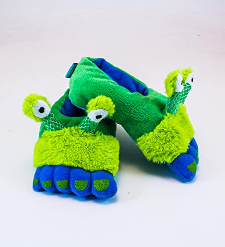 ba8bbb77d Amazon.com: Rich Frog Rabbit Funky Feet Slippers for Children, Toddler Size  7: Toys & Games
