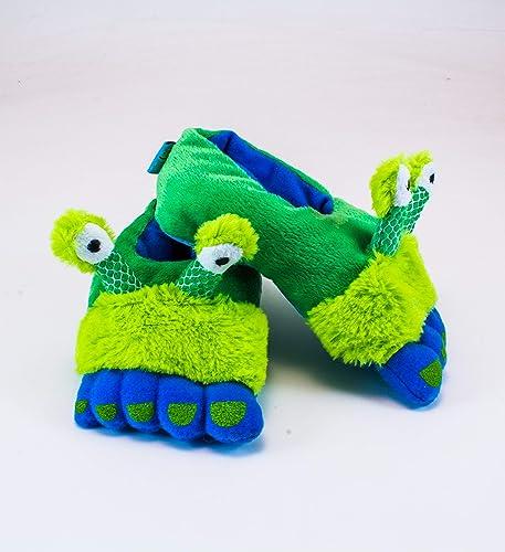 6d8d143eacb9 Amazon.com  Rich Frog Alien Funky Feet Slippers for Children ...
