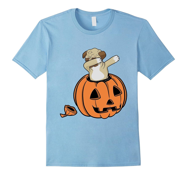 a94bad11bd7d ... Pug Dabing: Halloween Pug Dabbing T-Shirt Funny Dab Horror Tee-Art