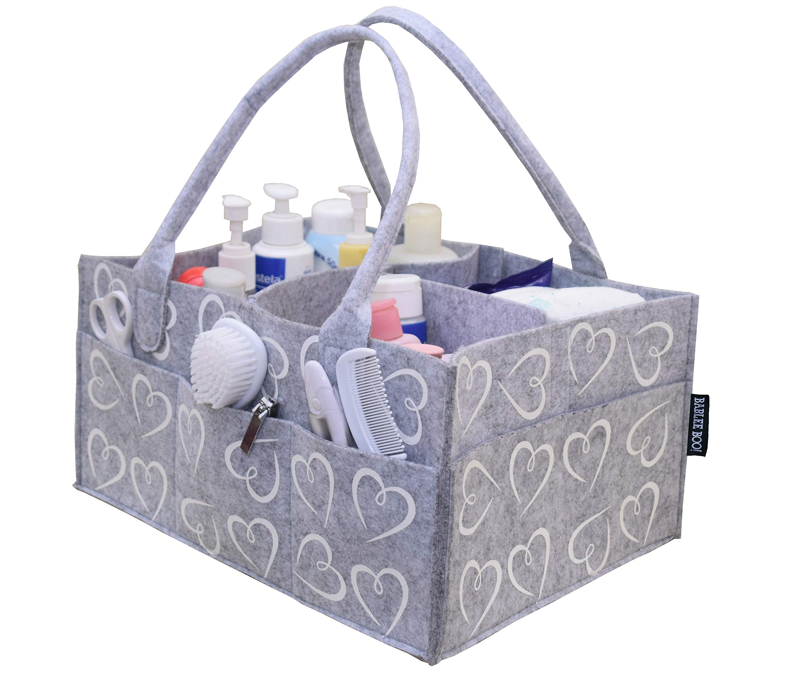 Diaper Caddy by Bablee Boo | Baby Gifts Basket | Registry for Baby Shower Must Have |