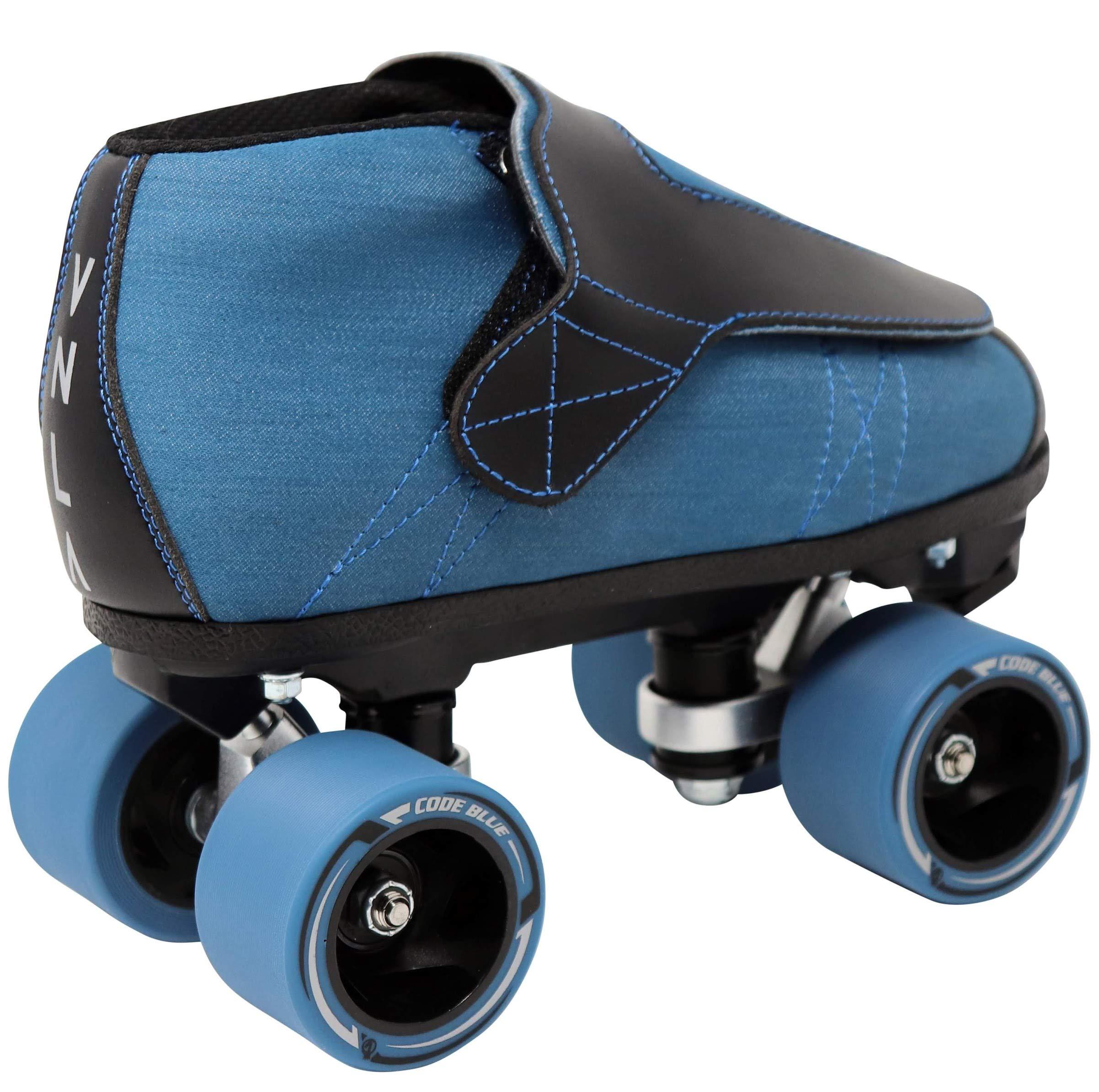 VNLA Code Blue Jam Skate - Mens & Womens Speed Skates - Quad Skates for Women & Men - Adjustable Roller Skate/Rollerskates - Outdoor & Indoor Adult Quad Skate - Kid/Kids Roller Skates (Size 6) by VNLA (Image #3)
