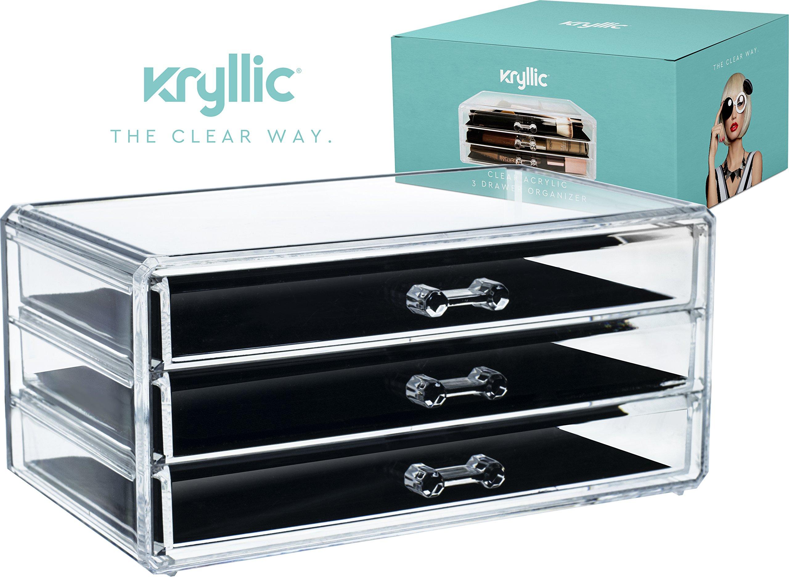 Acrylic Jewelry Makeup Cosmetic Organizer Case Box Storage Display