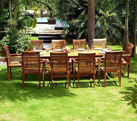 Salón de teca para el jardín. – Mesa grande 200 – 300 cm. – 10 ...