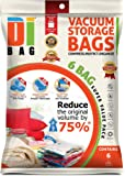 DIBAG ® 6 VACUUM COMPRESSED STORAGE SAVING SPACE BAGS 70x50 CM Clothing, Bedding, Pillows, Curtains