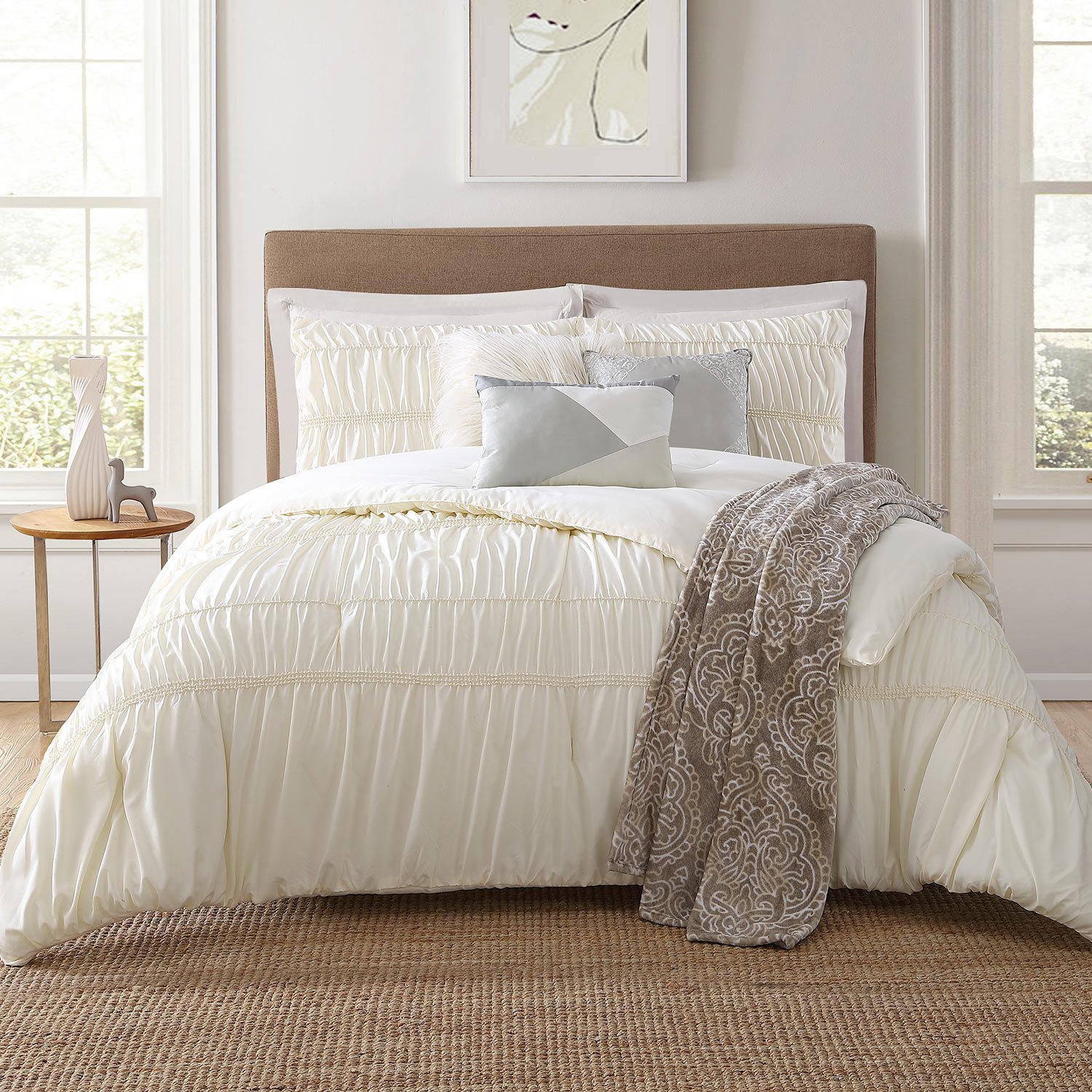 Jennifer Adams Home 7 Piece Comforter Set Jennifer Adams 7 Pcs, King, Belovo by Jennifer Adams Home