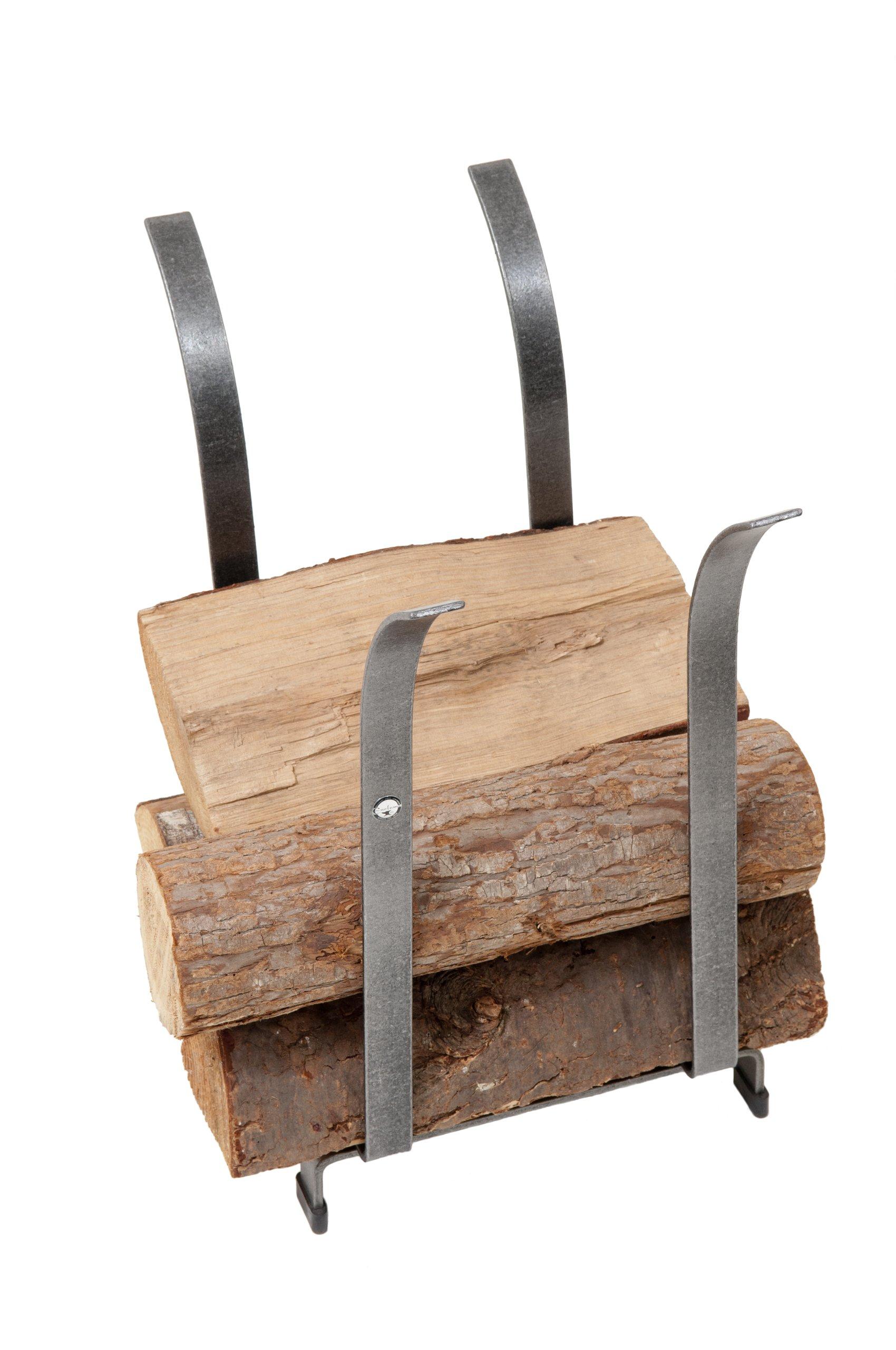 Enclume Tulip Log Rack, Hammered Steel
