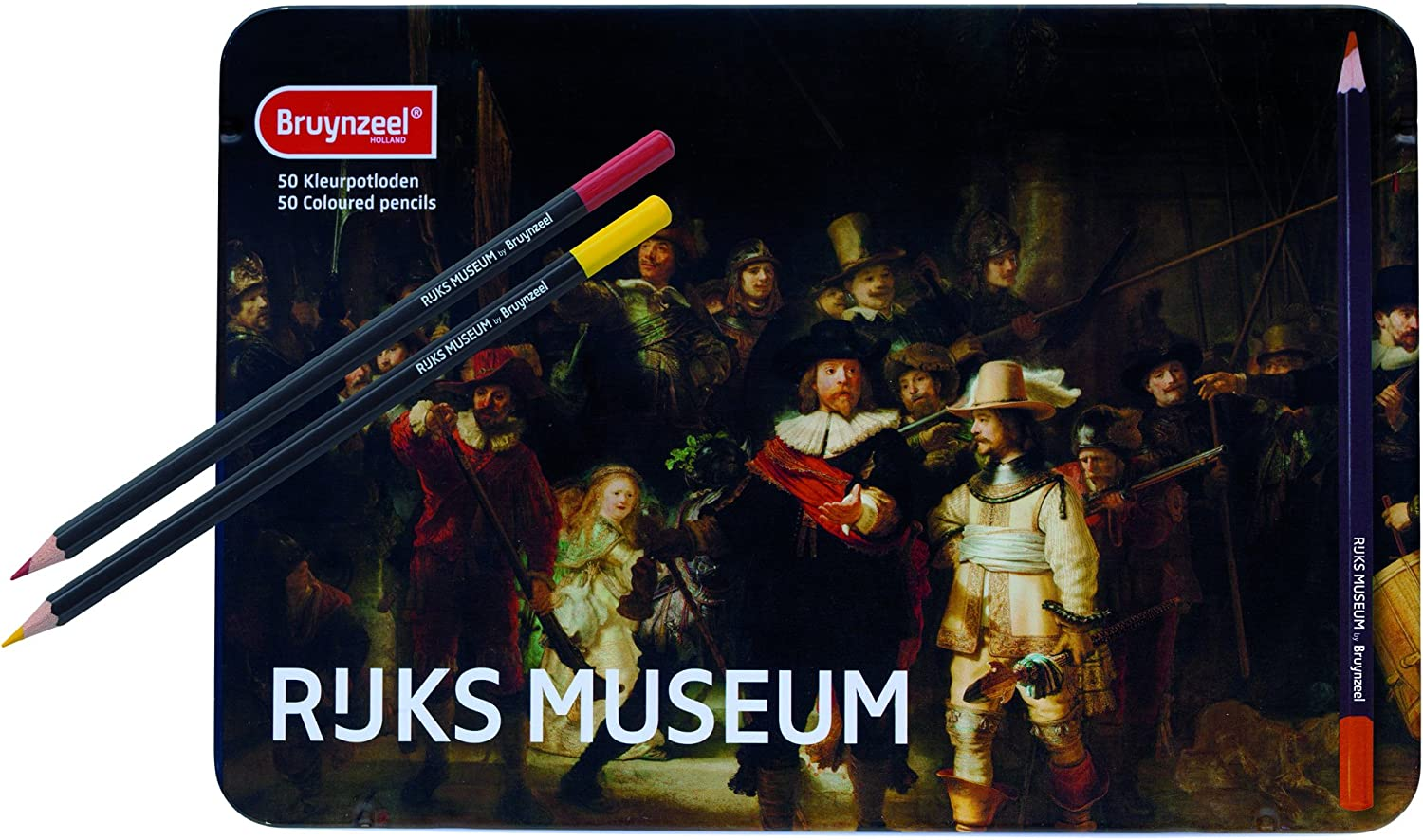 Rijks Museum Edition Tin of 24 High Quality Colouring Pencils Bruynzeel