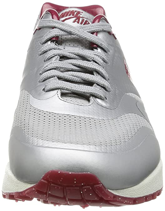 NIKE AIR MAX 1 HYP QS METALLIC SILVERDEEP RED SAIL