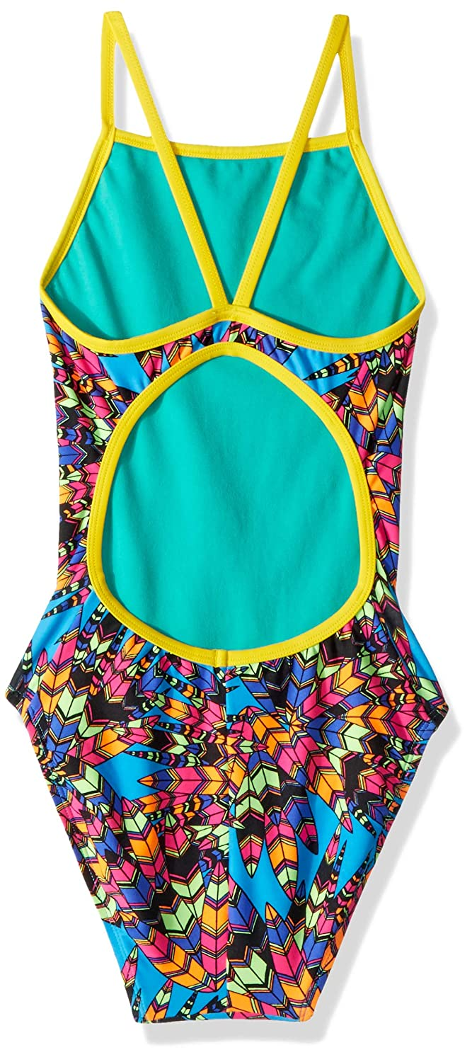 The Finals Womens Funnies Woodstock Non foil Flutter Back Swimsuit The Finals Swimwear 7915A-P