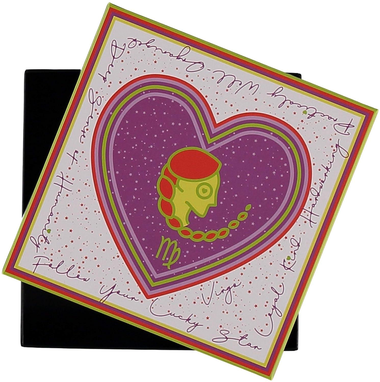 Vergine FRAAS Sciarpa in tema Oroscopo per donna e uomo 75/% lana e 25/% seta Sciarpa Bandana con disegno dello zodiaco 65 x 65 cm