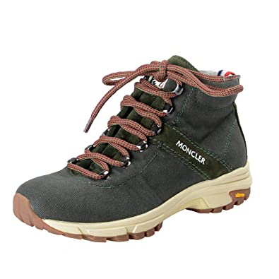 b80b94c1e Amazon.com | Moncler Women's Olive Green Lace Up Hiking Ankle Boots ...