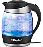 Mueller Premium 1500W Electric Kettle with SpeedBoil Tech, 1.8 Liter Cordless with LED Light, Borosilicate Glass, Auto…