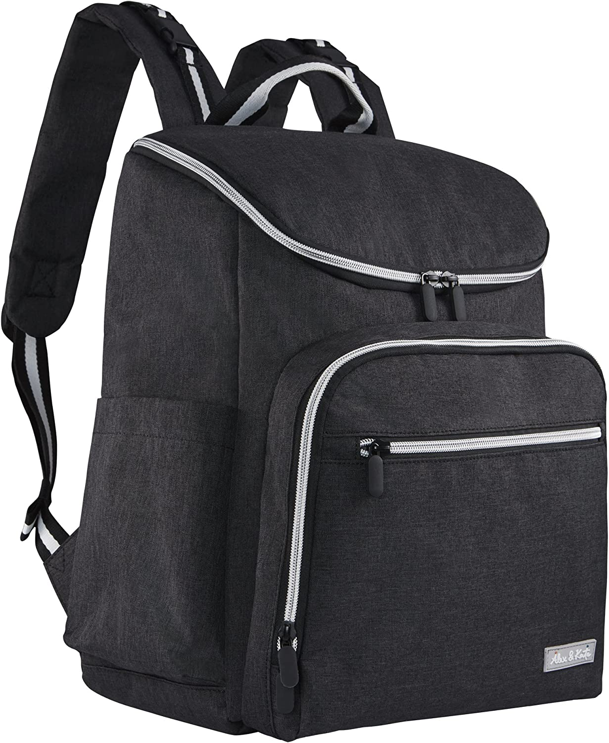 Diaper Backpack by Alex & Kate - Stylish Multi-Function Nappy Bag for Mom