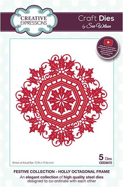 Creative Expressions Craft Die CED5520 Sue Wilson Noble Collection Lavish Accented Hexagon